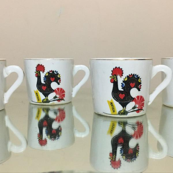 Xícaras cafezinho porcelana galo portugal