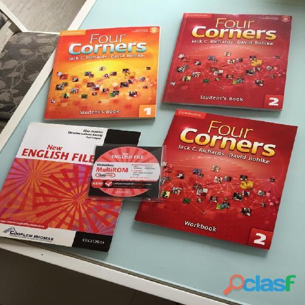 4 LIVROS DE INLGLES FOUR CORNERS + CD