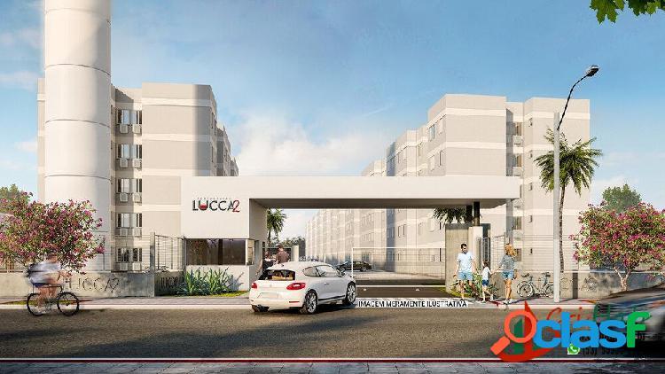 Residencial lucca2 - apartamento 2 dormitórios mcmv - fragata pelotas rs