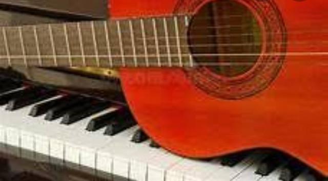 Aulas de canto, teclado (piano), violão popular e