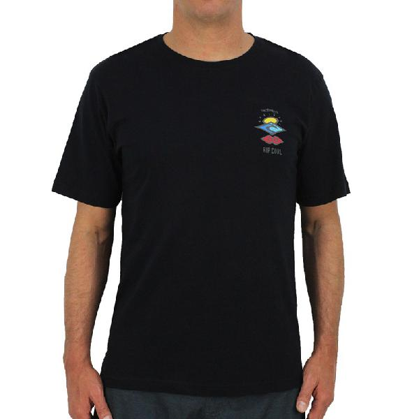 Camiseta rip curl search logo black - surf alive