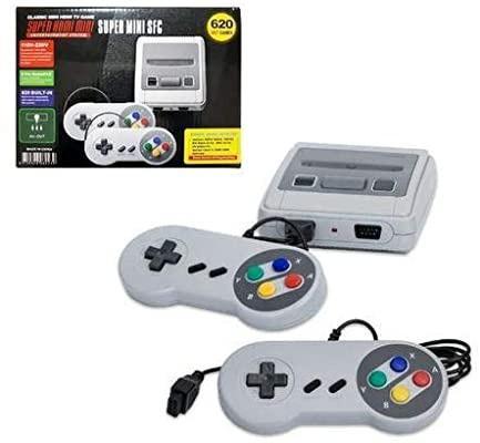 Console super classic edition + 2 controles + 600 jogos