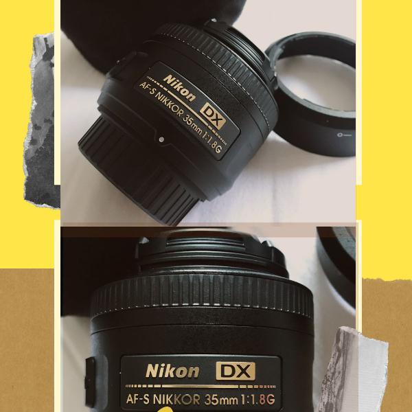 Lente objetiva nikon af-s 35mm f/ 1.8g dx