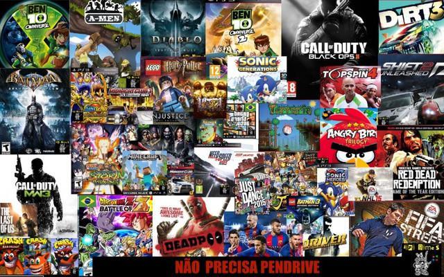 Pacote de jogos ps3 mídia psn