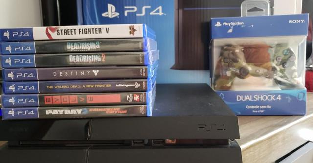 Playstation 4 - ps4 - 2000 gb/ 2 tb - / 7 jogos / controle
