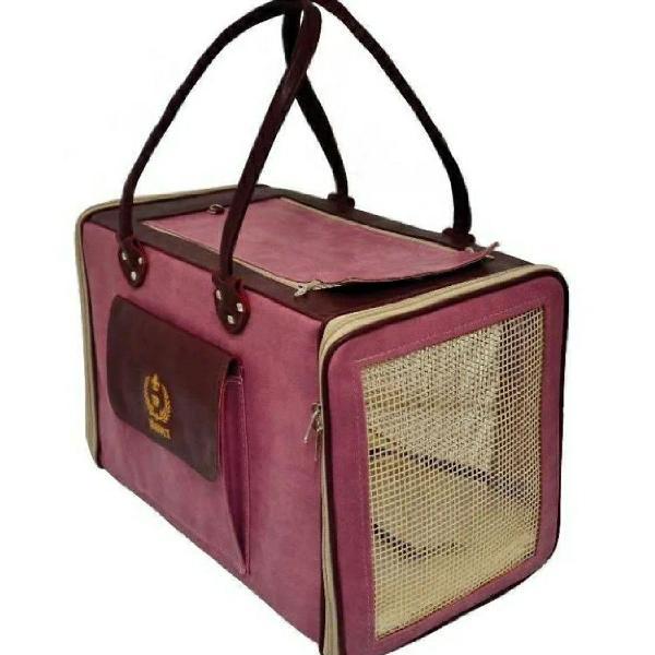 Bolsa de transporte de pet sao pet rosa