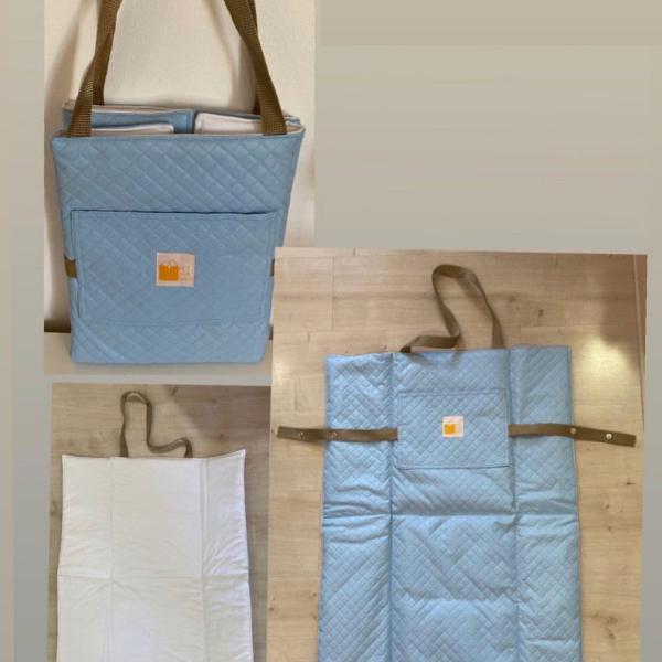Bolsa tapete impermeável para piquenique pet azul