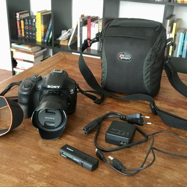 Camera sony alpha 3000 + lente 18-55 + cartão 16gb