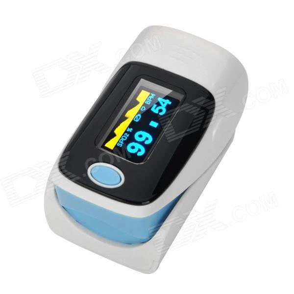 Oxímetro de dedo pulso digital (cor azul)