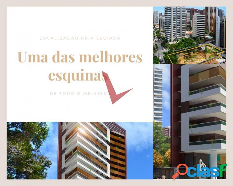 Apartamento de luxo próximo a beira mar - savoy - apartamento com 4 dorms em fortaleza - meireles por 3.47 milhões à venda