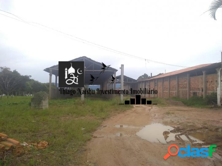 Alugo terreno c/ galpão - bairro br 410 - tijucas/sc - brasil