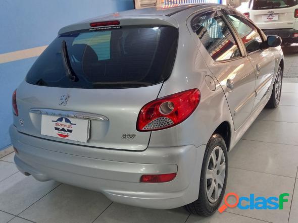 Peugeot 207 xr 1.4 flex 8v 5p prata 2012 1.4 flex
