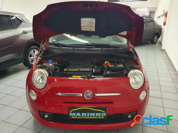 Fiat 500 sport 1.4 16v 100cv dualogic vermelho 2010 1.4 gasolina