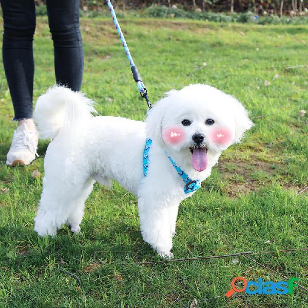 Cachorro coleira de algodão corda à prova de explosão à prova d 'água cachorro cadeia de gato e cachorro universal corda suprimentos para animais de estimação