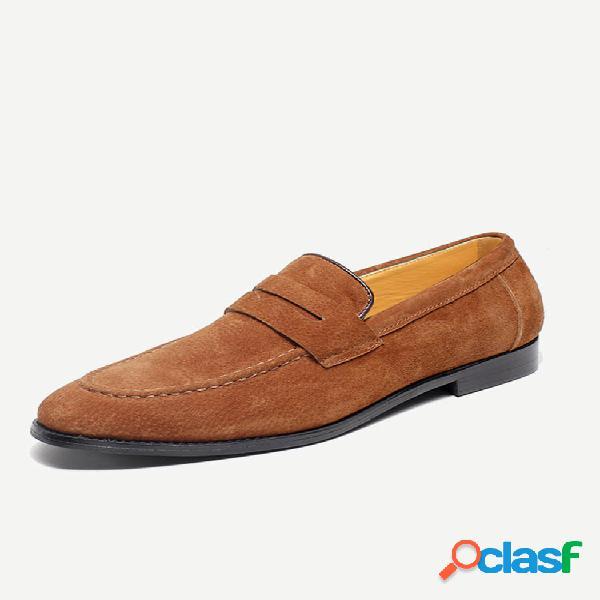 Couro de microfibra masculino antiderrapante em sapatos formais de tamanho grande