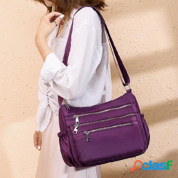 Bolsa novas mulheres bolsa simples casual mãe de meia idade ombro pacote diagonais oxford pano mulheres cross-pacote à prova d 'água