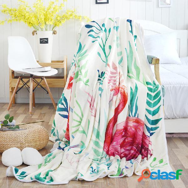 Cobertor fino com estampa flamingo edredom de verão infantil adulto colcha
