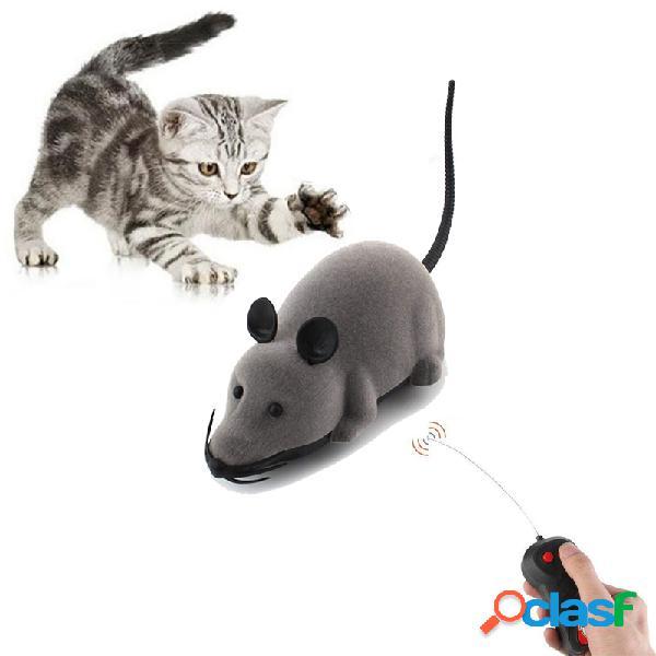 Gato criativo brinquedos eletrônicos controle remoto mouse pet cat cachorro brinquedo realista engraçado reunindo brinquedo de rato