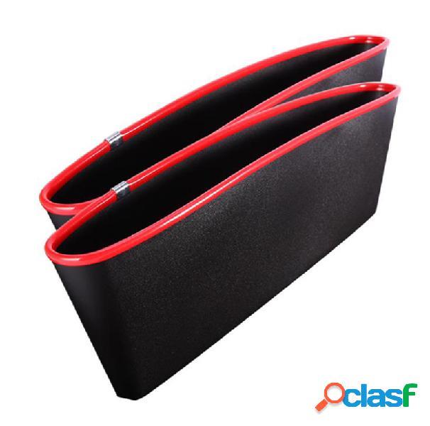 2 pcs caixa de armazenamento de fenda de assento de carro veículo-montado crevice organizador de telefone móvel
