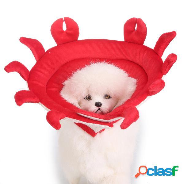 Forma de caranguejo coleira de gato cão pet elizabeth círculo curativo wound médica anti-mordida proteção escudo