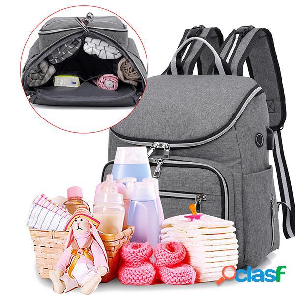 Fralda de grande capacidade bolsa mommy handbag shoulder bolsa mochila para mulheres