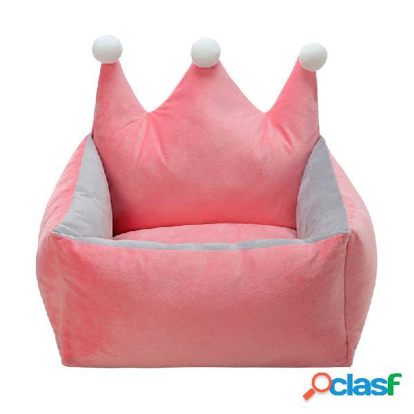 3 cores de luxo coroa de cristal de veludo pet canil cão gato quente sofá-cama