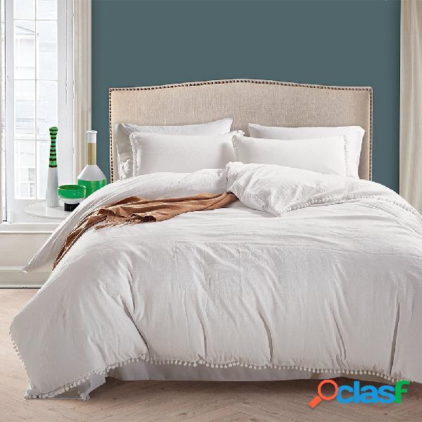 Conjunto de roupa de cama de luxo conciso de estilo nórdico com capa de edredom dupla queen size king size e fronha