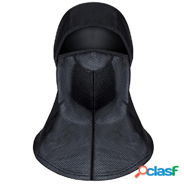 Mens inverno quente à prova d 'água boca face completa máscara chapéu ao ar livre ocasional ciclismo esqui cap