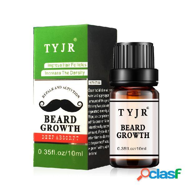 10 ml homens barba crescimento óleo hidratante de enfermagem melhorar frizz barba cílios nutritivo fluido