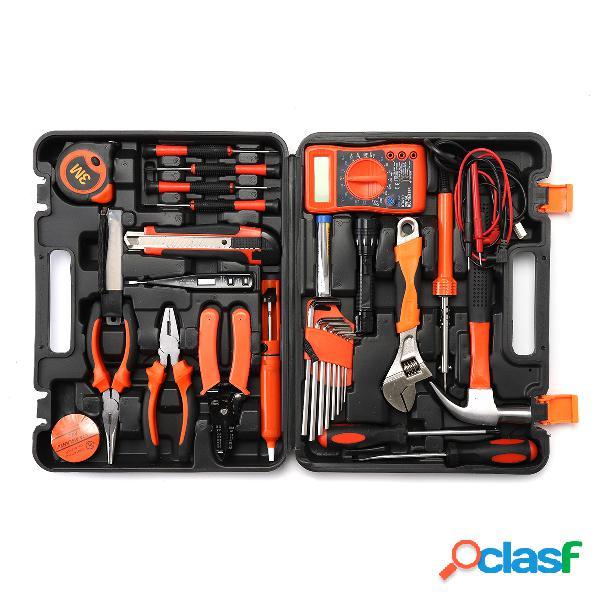 35 pcs multifuncionais ferramentas kit conjunto de aço doméstico eletricista kits hardware toolbox