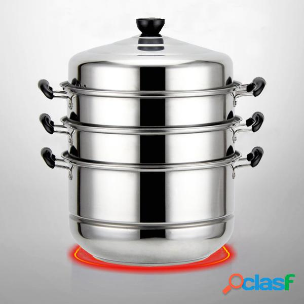 4 tier 32cm stainless steel steamer cooking food stock hot pot cookware 4 camadas