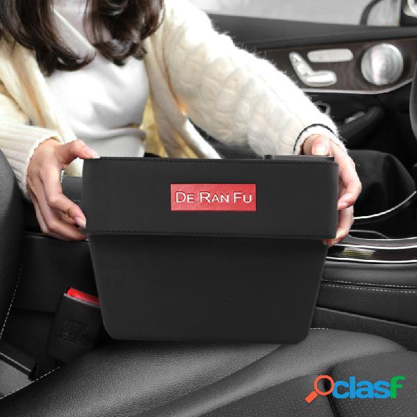 Armazenamento de espaço para assento de carro caixa caixa multifuncional de couro para lixo suporte para copos de água