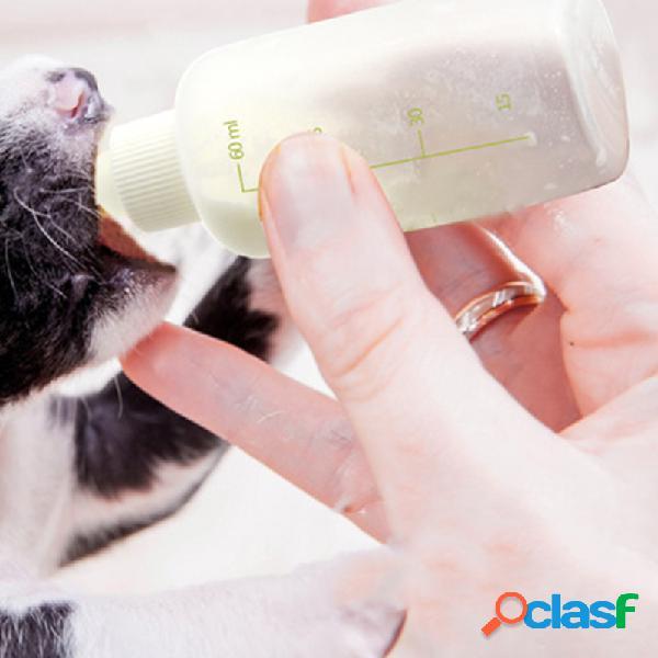 Mamadeira para animais recém-nascidos cachorro mamadeira para gatos chupeta pequena pet cachorro suprimentos