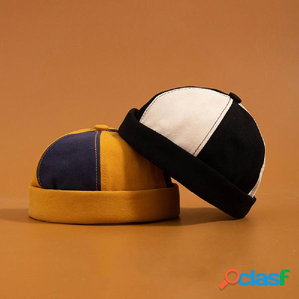 Moda masculina e feminina de algodão multicolor chapéu sem aba chapéus caveira bonés
