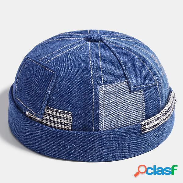 Moda feminina e masculina de jeans com costura de bolso landlord chapéu caveira bonés