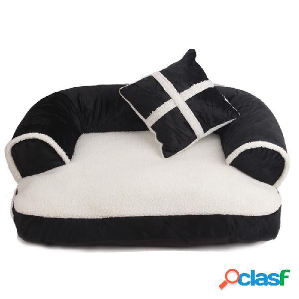 3 cores estilo ue luxo pet couch cama cão gato destacável inverno sofá cama canil