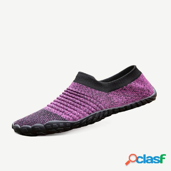 Tamanhos grandes femininos confortáveis respiráveis ao ar livre calçados de meia esportiva