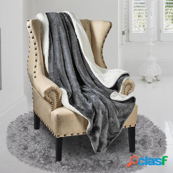 150 * 200 sherpa cobertor de lã tamanho gêmeo azul marinho cinza cobertor de pelúcia fuzzy soft cobertor microfibra