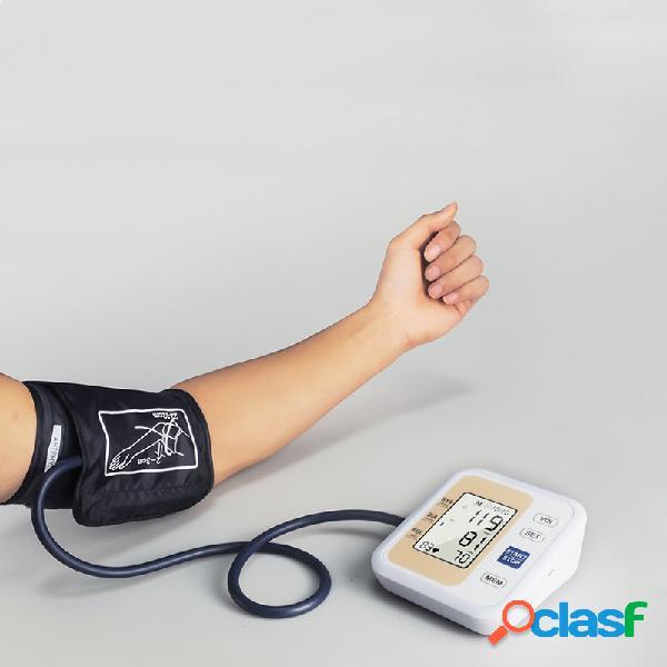 Monitor de pressão arterial de braço inteligente manguito médico esfigmomanômetro monitor de pressão arterial