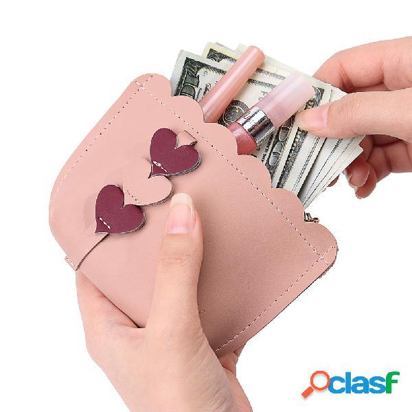 Bolsa de moeda de padrão amor bolsa de moedas mini mulheres