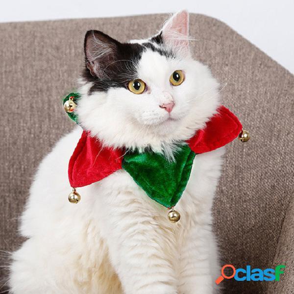 Coleira de cachecol de natal para animais de estimação, gato de cão