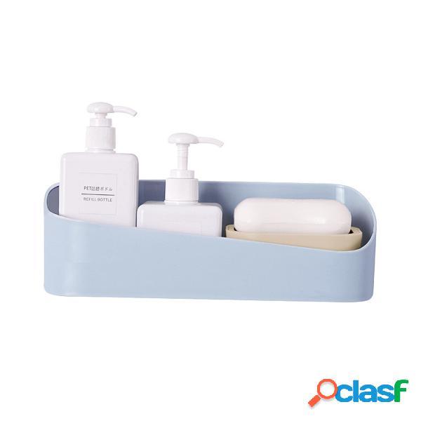 Prateleiras gel de banho shampoo rack de armazenamento organizador de suporte de prateleira de parede caixa banheiro acessórios
