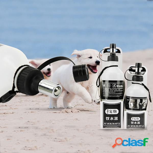 Cão portátil do gato do animal de estimação caneca do curso do cão do aqua garrafa de água da bola do rolo caminhada ao ar livre