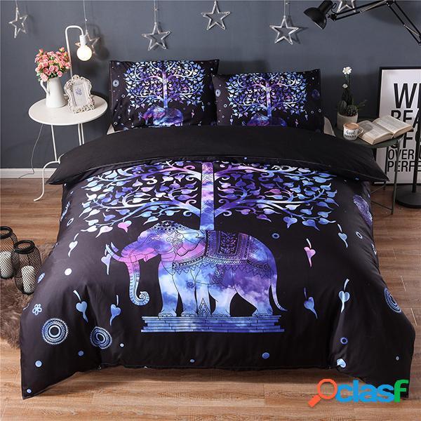 3pcs fashionable 3d pattern bedding sets duvet cover almofada de cama cabida twin queen king