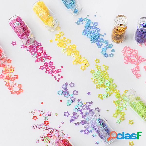 48 garrafas / conjunto unhas art sequins brilho pó manicure dicas de decoração polonês unhas conjunto de adesivos