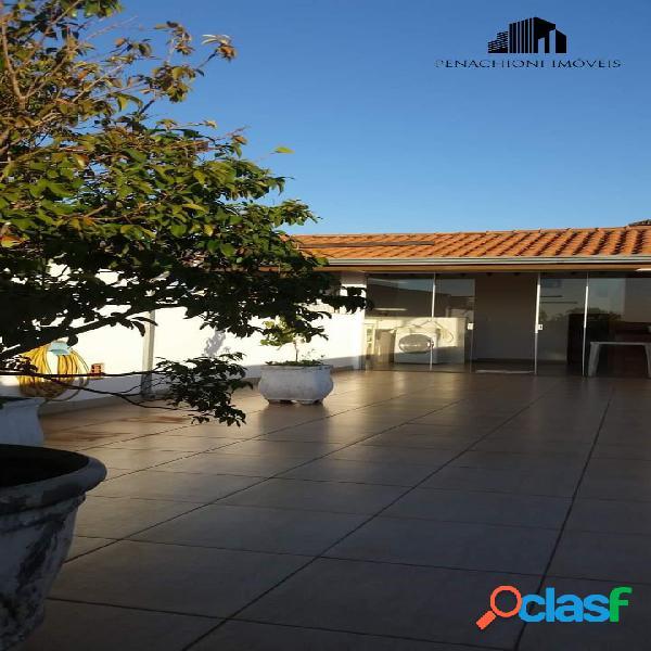 Casa + salão comercial com 3 pavimentos, parque das nações, americana-sp