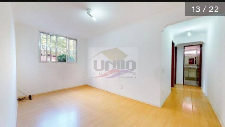 Apartamento de 70m², 2 quartos, 2 banheiros, 1 vaga, andar
