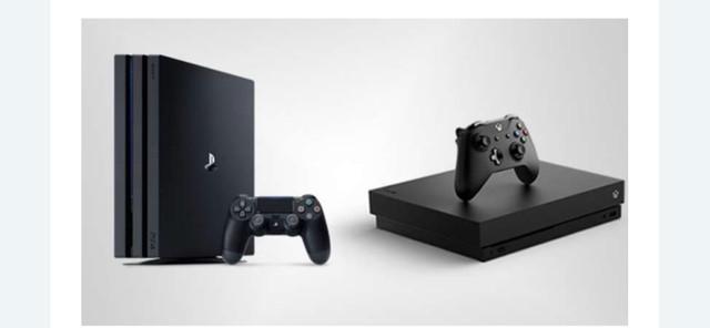 Xbox one x e playstation 4 pro