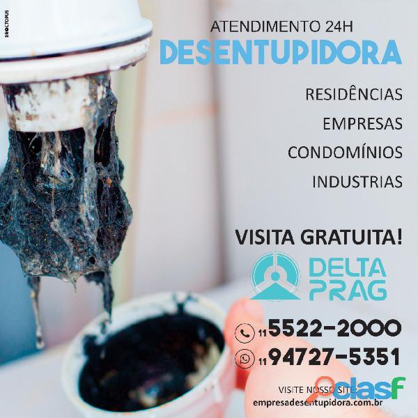 Empresa desentupidora DeltaPrag na região de São Paulo
