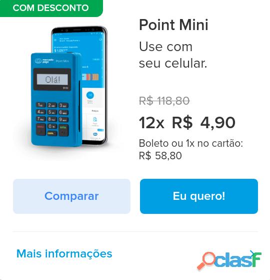 Maquininha de cartão Point Mercado Pago